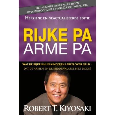 """""""Rijke pa, arme pa"""" boek van Robert Kiyosaki een gids naar financiële vrijheid!!"""
