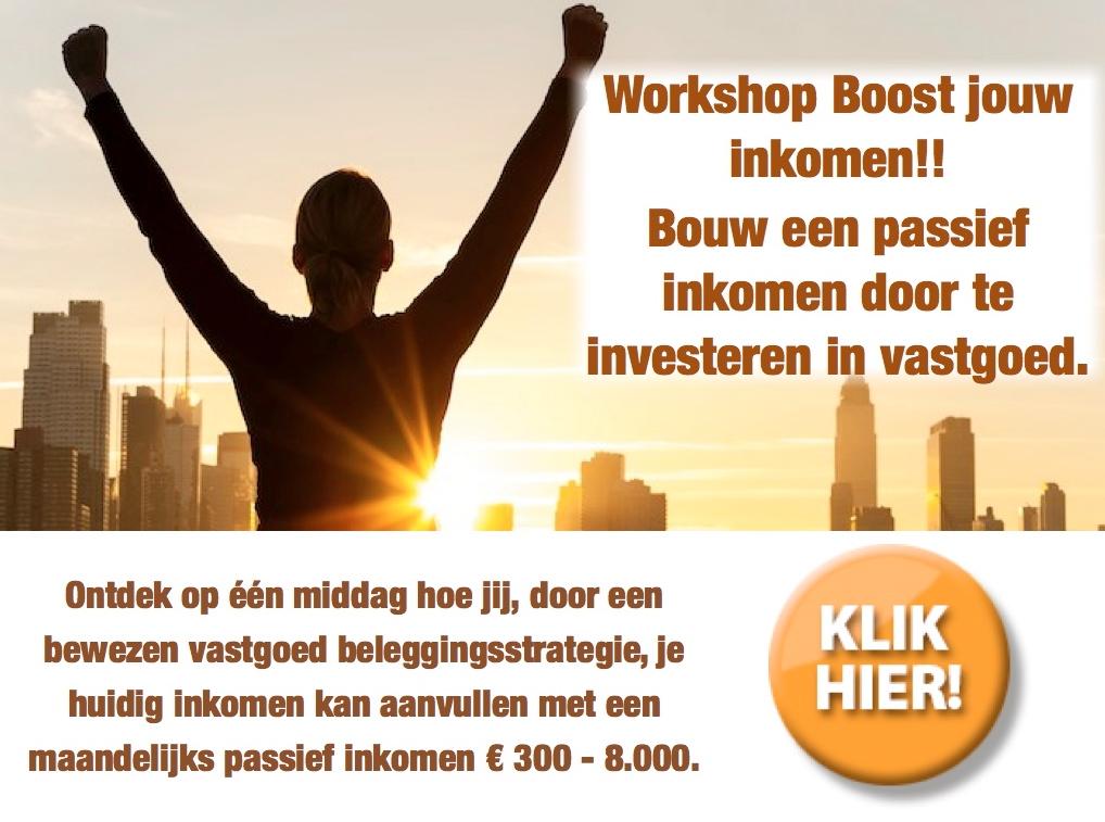 Hoe word ik rijk - boost je inkomen workshop