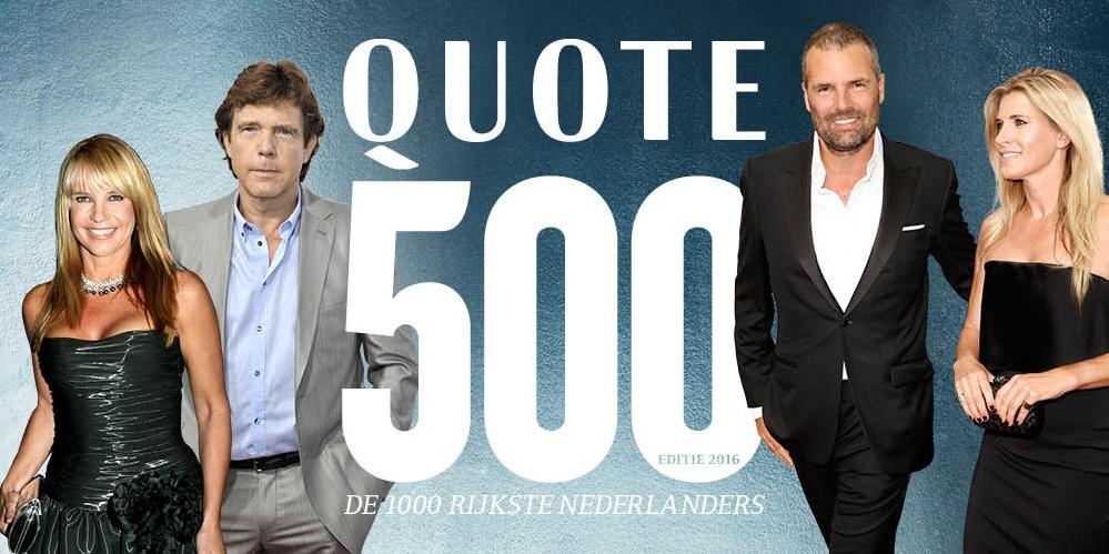 de Quote 500 rijkste Nederlanders en de 500 rijkste Belgenover beleggen en geld