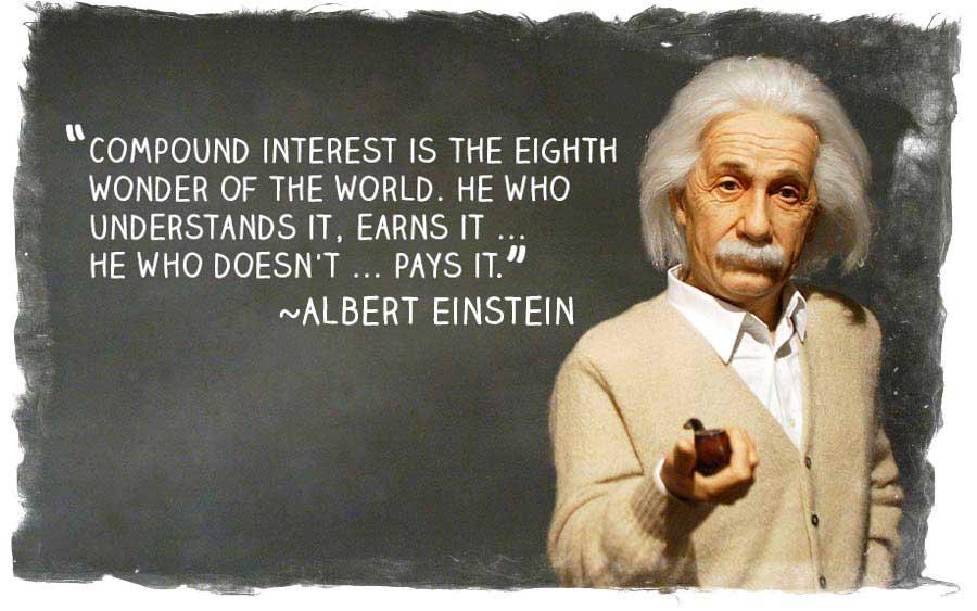 De kracht van samengestelde intresten is het wonder dat je rijk maakt.