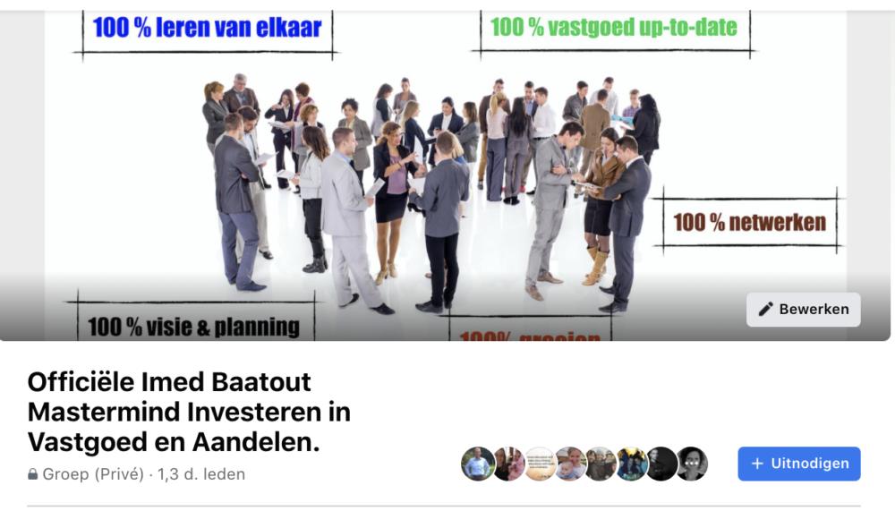 Mastermind community investeren in vastgoed en aandelen van Imed Baatout: