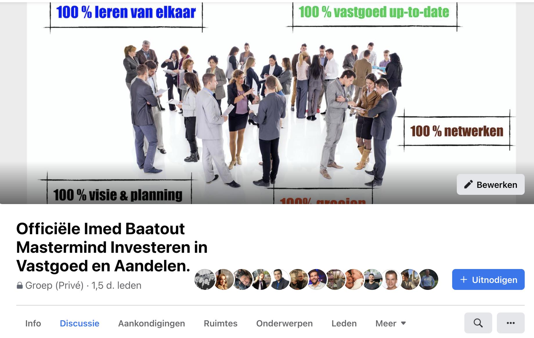 Mastermind community investeren in vastgoed en aandelen van Imed Baatout/.
